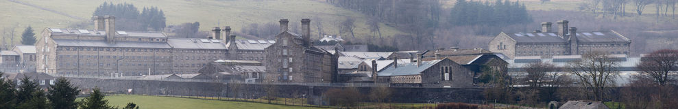 Dartmoor Prison. Close up panorama of Dartmoor prison Princeton Dartmoor royalty free stock photography