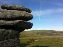 Dartmoor Reino Unido hexworthy de los torres Fotografía de archivo libre de regalías