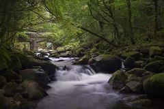 Dartmoor River. Taken of the River Plym on a summer afternoon in Dartmoor National Park stock photography