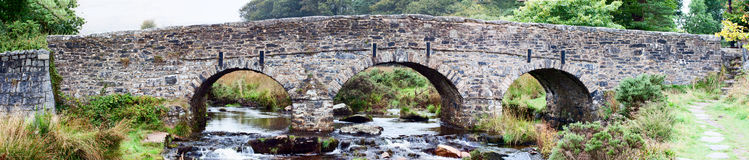 Dartmoor road bridge. Road Bridge over the East Dart river on Dartmoor at Postbridge Stock Image