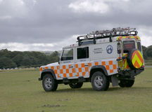 Dartmoor Search and Rescue Ambulance. Located in Dartmoor National Park royalty free stock photo