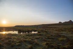 Dartmoor-Sonnenaufgang Stockbild