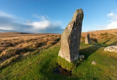 Dartmoor Standing Stones Stock Images
