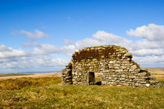 Dartmoor stone house Royalty Free Stock Photos