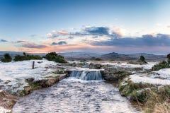 Dartmoor Waterfall Royalty Free Stock Images