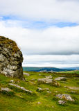 Dartmoorlandschap, Engeland (portretwijze) Stock Fotografie