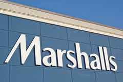 Marshalls Store Sign. DARTMOUTH, CANADA - JUNE 10, 2017: Marshalls is an American chain of department stores owned by TJX. Marshalls has more than 750 stores in Stock Image