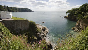 Dartmouth castle. On the estuary of the river dart devon royalty free stock photography