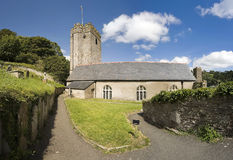 Dartmouth castle. The chapel, st petrox church, at dartmouth castle on the estuary of the river dart devon stock images