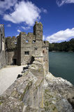 Dartmouth castle. On the estuary of the river dart devon royalty free stock images