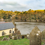 Dartmouth - Castle - Cemetery. Dartmouth Castle Grounds - Cemetery and Saint Petrox Church Royalty Free Stock Photo