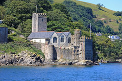 Dartmouth Castle. By the River Dart stock image