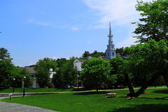 Dartmouth College Campus. On blue sky day, Hanover, New Hampshire United States stock image