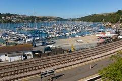 Dartmouth Devon Anglia UK podczas lata heatwave 2013 Obrazy Royalty Free