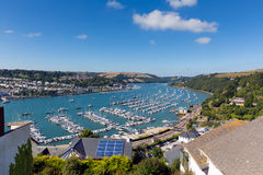 Dartmouth Devon and River Dart harbour England UK Royalty Free Stock Photography