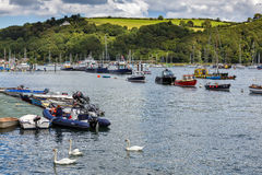 DARTMOUTH, DEVON/UK - JULY 29 : Scenic view up the River Dart fr Stock Photo