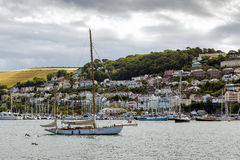 DARTMOUTH, DEVON/UK - JULY 28 : View across the River Dart towar Royalty Free Stock Images
