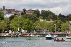 DARTMOUTH, DEVON/UK - JULY 29 : View over the River Dart towards Stock Photography