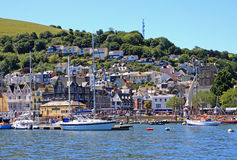 Dartmouth, Devon. Yachts on the river Dart, Dartmouth stock image