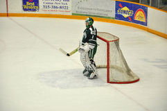 Dartmouth goalkeeper warmup in NCAA Hockey Game Royalty Free Stock Image