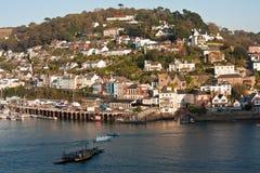 Dartmouth Kingswear prom Devon Anglia Zdjęcie Royalty Free
