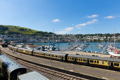 Dartmouth and Kingswear station by marina Devon England by River Dart Stock Photos