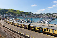 Dartmouth and Kingswear station by marina Devon England by River Dart Royalty Free Stock Image