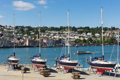 Dartmouth Marina Devon Anglia UK podczas lata heatwave 2013 Zdjęcie Stock