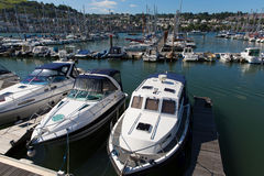 Dartmouth Marina Devon Anglia UK podczas lata heatwave 2013 Obrazy Stock