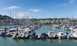 Dartmouth Marina Devon Anglia UK podczas lata heatwave 2013 Zdjęcia Royalty Free