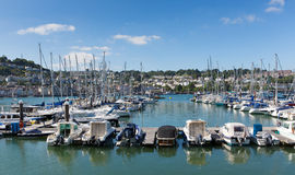 Dartmouth Marina Devon England UK during the summer heatwave of 2013 Royalty Free Stock Photos
