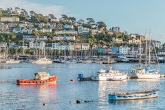 Dartmouth. Marina with Kingswear in the background stock images