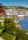 Dartmouth Naval College on the hill. In the town of Dartmouth, Devon on the River Dart. England Stock Photography
