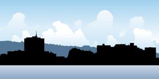 Dartmouth, Nova Scotia. Skyline silhouette of the city of Dartmouth, Nova Scotia, Canada Stock Images