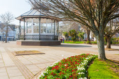 Dartmouth Park. Flower beds and public space at Dartmouth Devon England UK royalty free stock images