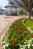 Dartmouth Park. Flower beds and public space at Dartmouth Devon England UK stock image