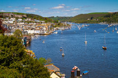 Dartmouth and the River Dart in Devon. With Dartmouth Naval College on the hill royalty free stock images