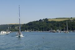 Dartmouth scene from ferry Stock Image