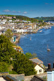 Dartmouth town including the Naval College. On the River Dart. England.Photo taken from the road on the way to the castle royalty free stock photos