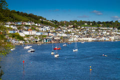 Dartmouth town on the River Dart. England.Photo taken from the road on the way to the castle Stock Images