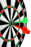 Darts. Dart hit the mark Stock Photos