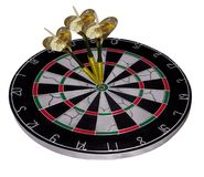 Darts. Three bald eagles that have become bulls in a dart board Royalty Free Stock Images