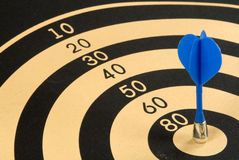 Darts. Magnetic dart in a target Royalty Free Stock Photo
