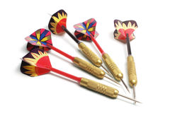 Darts. On Isolated White Background Stock Images