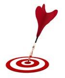 Darts. Arrow darts got to a target Stock Photography
