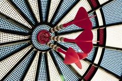 Darts 2. Target with three red darts Stock Photo