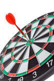 Darts. With arrow over white backgrounds Stock Photography