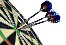 Darts. Target and darts over white Royalty Free Stock Images