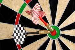 Darts. With arrows in it´s bull eye Royalty Free Stock Photo