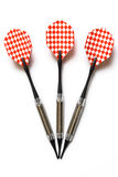 Darts. Three darts in orthographic projection Stock Images